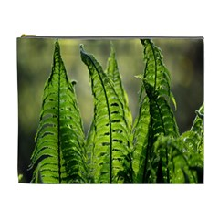 Fern Ferns Green Nature Foliage Cosmetic Bag (XL)