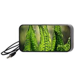 Fern Ferns Green Nature Foliage Portable Speaker (black) by Nexatart