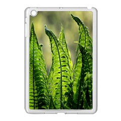 Fern Ferns Green Nature Foliage Apple Ipad Mini Case (white) by Nexatart