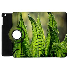 Fern Ferns Green Nature Foliage Apple Ipad Mini Flip 360 Case by Nexatart
