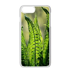 Fern Ferns Green Nature Foliage Apple Iphone 7 Plus White Seamless Case by Nexatart