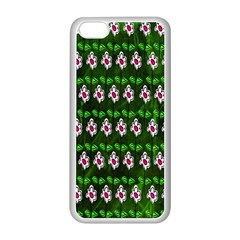 Floral Pattern Apple Iphone 5c Seamless Case (white) by Nexatart