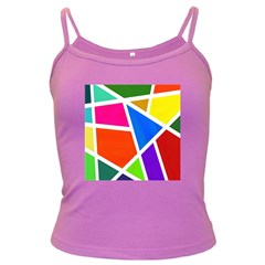 Geometric Blocks Dark Spaghetti Tank