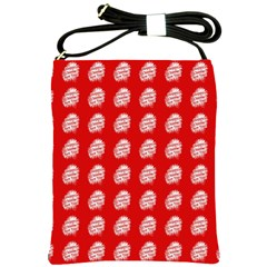Happy Chinese New Year Pattern Shoulder Sling Bags by dflcprints