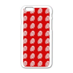 Happy Chinese New Year Pattern Apple Iphone 6/6s White Enamel Case by dflcprints
