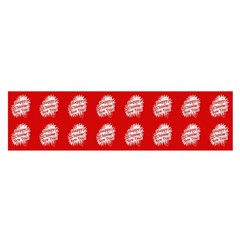 Happy Chinese New Year Pattern Satin Scarf (oblong) by dflcprints