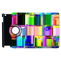 Glitch Art Abstract Apple Ipad 2 Flip 360 Case by Nexatart