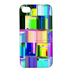 Glitch Art Abstract Apple Iphone 4/4s Hardshell Case With Stand