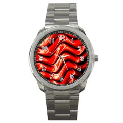 Fractal Mathematics Abstract Sport Metal Watch by Nexatart