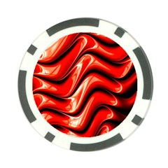 Fractal Mathematics Abstract Poker Chip Card Guard by Nexatart