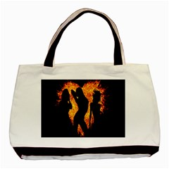 Heart Love Flame Girl Sexy Pose Basic Tote Bag by Nexatart
