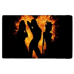 Heart Love Flame Girl Sexy Pose Apple Ipad 2 Flip Case