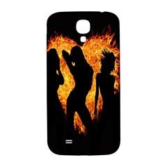 Heart Love Flame Girl Sexy Pose Samsung Galaxy S4 I9500/i9505  Hardshell Back Case