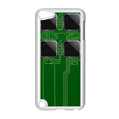 Green Circuit Board Pattern Apple Ipod Touch 5 Case (white)