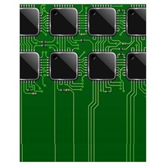 Green Circuit Board Pattern Drawstring Bag (small) by Nexatart