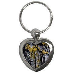 Grey Yellow Stone Key Chains (Heart)