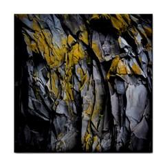 Grey Yellow Stone Face Towel