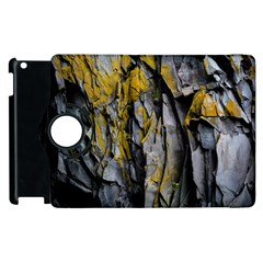 Grey Yellow Stone Apple Ipad 3/4 Flip 360 Case by Nexatart