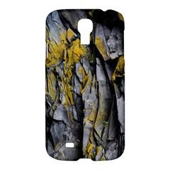 Grey Yellow Stone Samsung Galaxy S4 I9500/i9505 Hardshell Case by Nexatart