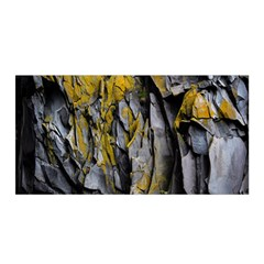Grey Yellow Stone Satin Wrap by Nexatart