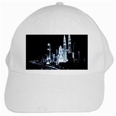 Kuala Lumpur Urban Night Building White Cap