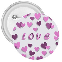 Love Valentine S Day 3d Fabric 3  Buttons