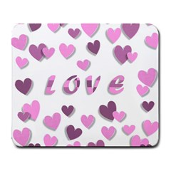 Love Valentine S Day 3d Fabric Large Mousepads by Nexatart