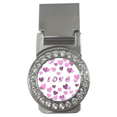 Love Valentine S Day 3d Fabric Money Clips (cz)  by Nexatart