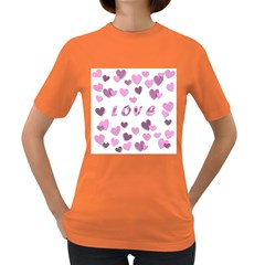 Love Valentine S Day 3d Fabric Women s Dark T Shirt