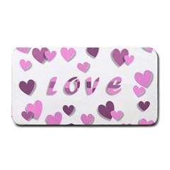 Love Valentine S Day 3d Fabric Medium Bar Mats by Nexatart