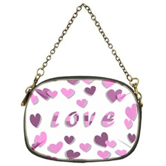 Love Valentine S Day 3d Fabric Chain Purses (one Side)