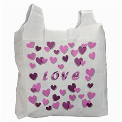 Love Valentine S Day 3d Fabric Recycle Bag (one Side) by Nexatart