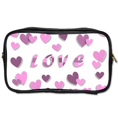 Love Valentine S Day 3d Fabric Toiletries Bags 2 Side by Nexatart