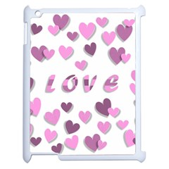 Love Valentine S Day 3d Fabric Apple Ipad 2 Case (white)