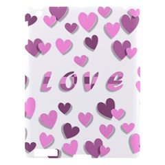 Love Valentine S Day 3d Fabric Apple Ipad 3/4 Hardshell Case by Nexatart