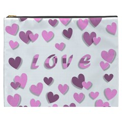 Love Valentine S Day 3d Fabric Cosmetic Bag (xxxl)  by Nexatart
