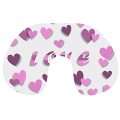 Love Valentine S Day 3d Fabric Travel Neck Pillows