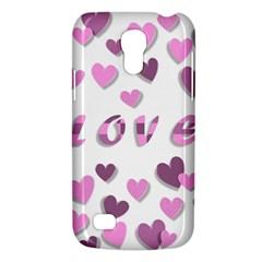 Love Valentine S Day 3d Fabric Galaxy S4 Mini by Nexatart