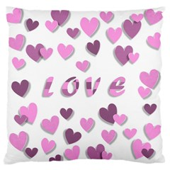 Love Valentine S Day 3d Fabric Standard Flano Cushion Case (one Side) by Nexatart