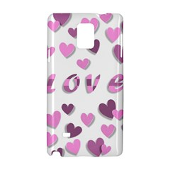 Love Valentine S Day 3d Fabric Samsung Galaxy Note 4 Hardshell Case by Nexatart