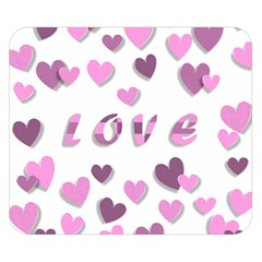 Love Valentine S Day 3d Fabric Double Sided Flano Blanket (small)  by Nexatart