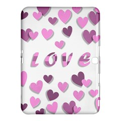 Love Valentine S Day 3d Fabric Samsung Galaxy Tab 4 (10 1 ) Hardshell Case  by Nexatart