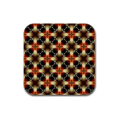 Kaleidoscope Image Background Rubber Square Coaster (4 Pack)