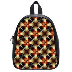 Kaleidoscope Image Background School Bags (small)  by Nexatart