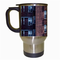 New York Building Windows Manhattan Travel Mugs (white) by Nexatart