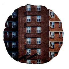 New York Building Windows Manhattan Large 18  Premium Round Cushions