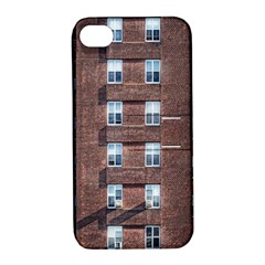New York Building Windows Manhattan Apple Iphone 4/4s Hardshell Case With Stand by Nexatart