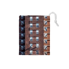 New York Building Windows Manhattan Drawstring Pouches (small)  by Nexatart