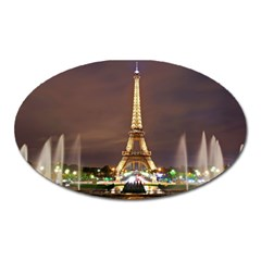 Paris Eiffel Tower Oval Magnet by Nexatart