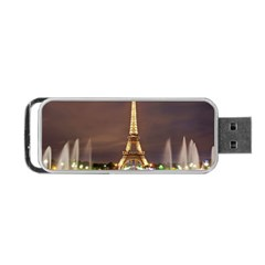 Paris Eiffel Tower Portable USB Flash (One Side) by Nexatart